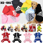 Внешний вид - Winter Casual Adidog Pets Dog Clothes Warm Hoodie Coat Jacket Clothing For Dogs