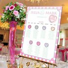 Personalised Wedding Table Seating Plan-SWEET LOVE HEARTS A1-A2-A3