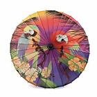 Pin Up Girl...Vintage Style Paper Parasol...Parrot...or...Hibiscus Sunset