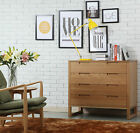 Bruno 4 Drawer Timber Chest / Cabinet - Solid Oak Wood - 100x48x89cm