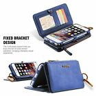 Luxury Genuine Leather Flip Wallet Phone Case Cover for iPhone 7 6S Plus Samsung