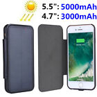 Luxury Solar Panel Power Case For iPhone 7 Plus 6s Battery Backup Charging Cover