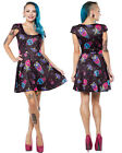 Sourpuss Brand Gothic Goth Punk Alternative Ice Creep Cones Skater Dress Mini