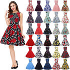 Vintage Womens 50s 60s Retro Floral Plus 3XL Pinup Housewife Party Swing Dress