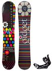 $625 Womens Gidget Geo Snowboard Stealth Bindings Combo 140CM Ladies Camber Ride