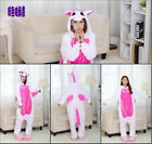 New  Unicorn Kigurumi Pajamas Animal Cosplay Costume Unisex Onesie Sleepwear