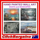 GENUINE HAND PAINTED WALL ART DECOR OIL PAINTING on CANVAS 60x50cm SEASCAPE BOAT