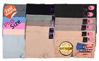 6pk Womens PLUS SIZE Seamless Solid Boy shorts Panties Under