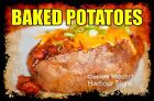 DECAL (Choose Your Size) Baked Potatoes Food Truck Sticker Restaurant Concession