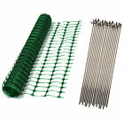 Green Orange Blue Plastic Safety Barrier Mesh Fence Netting Net and Metal Pins
