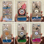 Dynamic Liquid Rotating Windmill Clear Back Hard Case For iPhone 5S/6/6S/Plus