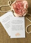 25 /50 Wedding Gift Money Poem Small Cards Asking For Money Cash For Invitations