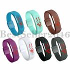 Fashion Sports Jelly Silicone LED Bracelet  Womens Mens Digital Wrist Watch Gift image