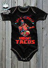DEADPOOL Baby Grow Body Suit Vest (LETS CUDDLE AND EAT TACOS) GIFT COSPLAY