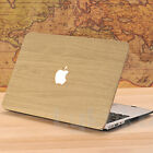 """Pale Brown Leather Wood Grain Hard Case for Macbook Air Pro 11 12 13 15"""" Retina"""