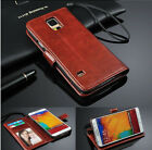 New Magnetic Leather Flip Card Slot Stand Wallet Case Cover For Samsung Galaxy