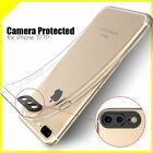 New 3D Camera Protect  Temper Glass +  Silicone Cover Case For iPhone 6 7 Plus