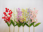 Artificial Simulation Flowers Purple/White/Green/Red Home Decor Brand New 76cm