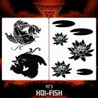 Airbrush stencil template DELTAARTS KOI-FISH KOIFISH KF3 - 2 SIZES XL XXL