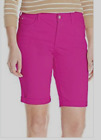 NYDJ Not Your Daughters Jeans Briella bermuda shorts pink Vivid Raspberry 10
