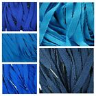 TZ Branded Flat 10mm Laces For Fashion Trainers, Shoes and Boots - Blues