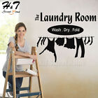 Laundry Room Wash Dry Fold Wall Sticker Decal Lettering Word