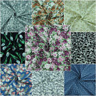 100% Cotton Material Floral,Roses Print Fabric Crafting EXTRA WIDE By the Metre