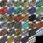 Natural Gemstone Bead Strand Round Loose Wholesale 4mm 6mm 8mm 10mm 12mm