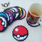 Pokeball Coasters Sets Or Singles Tableware Mug Pokemon Poke Ball Hama Fusion