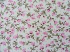 Pink ditsy floral fabric 100% cotton available in fat quarter half metre & metre