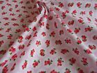 Pink floral rose fabric 100% cotton available in fat quarter half metre & metre