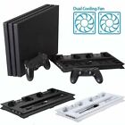 Vertical Stand Cooling Fan with Dual Charging Station for PS4 Pro/Slim Console