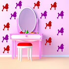 Poodle Dog Wall Sticker Pack Pet Animals Wall Decal Childrens Home Decor