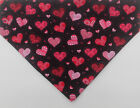 Valentine's Day black with Hearts Dog over the collar Bandana, valentine dogs