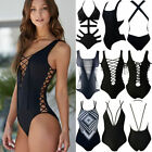 Womens One-Piece Swimsuit Bandage Bikini Push-up Padded Bra