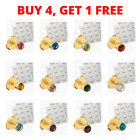 Ear Piercing Studs Earrings Stud Certified Sterile Gold Silver Colour 3mm