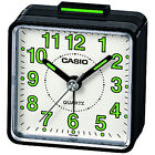 Casio TQ140 Travel Quartz Analogue Glowing Bedside Desk Beep Alarm Clock