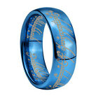US Size 4-18 Blue Lord of Ring, LOTR Ring, ONE Ring, Tungsten Ring