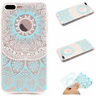 Clear Soft TPU Patterned Rubber Thin Protective Case Cover For iPhone 6 7 8 Plus