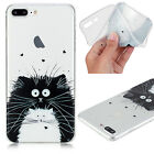 Clear Soft TPU Patterned Rubber Thin Protective Case Cover For iPhone 6s 7 Plus