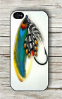 SALMON FLY RIVER FISHING OUTDOOR SPORT #4 CASE FOR iPHONE 4 5 5C 6 -hgu7X