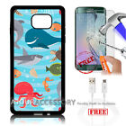 Samsung S6 Edge+ Plus 5.7' Case Cover Tempered Glass Film A4880 Sea Life