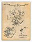 1936 Harley Davidson Knucklehead Engine Patent Print Art Drawing Poster 18 X 24 $25.99 USD on eBay
