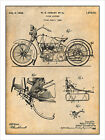 1928 Harley Davidson Motorcycle 2 Patent Print Art Drawing Poster 18 X 24 $24.99 USD on eBay