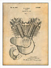 1923 Harley Davidson Motorcycle Engine Patent Print Art Drawing Poster 18 X 24 $24.99 USD on eBay