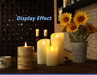 Led Flameless Candle, 3D Electric Candle With Timer, Battery,Real Paraffin Wax