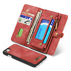 Genuine Leather Wallet Multi-functional Magnet Phone Case For iphone For Samsung
