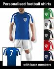 Personalised Football Shirt Printed Customised Soccer Kit Back Numbers Sports