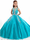 Wedding Party Dance Pageant Princess Ball Girls Gowns Kids Formal Prom Dresses