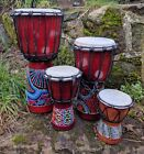 Djembe Bongo Drum Hand Painted 50cm, 40cm, 30cm, 20cm, 15cm & 12cm HIGH